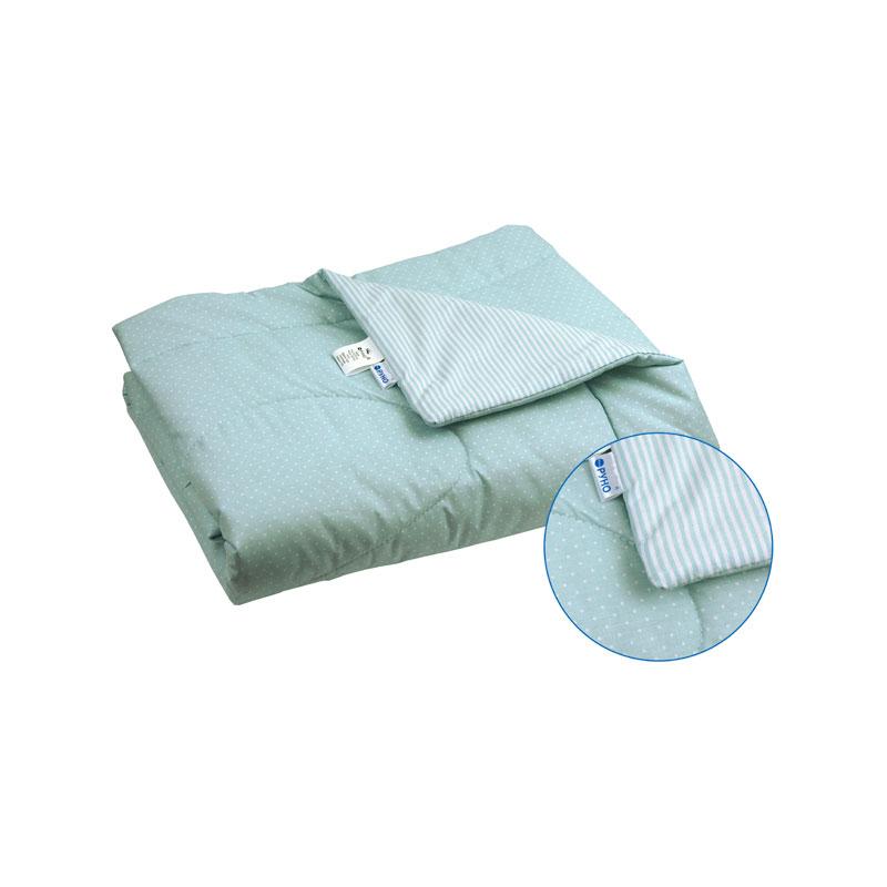 Детские летние одеяла - Детское хлопковое одеяло 02ХБУ голубое