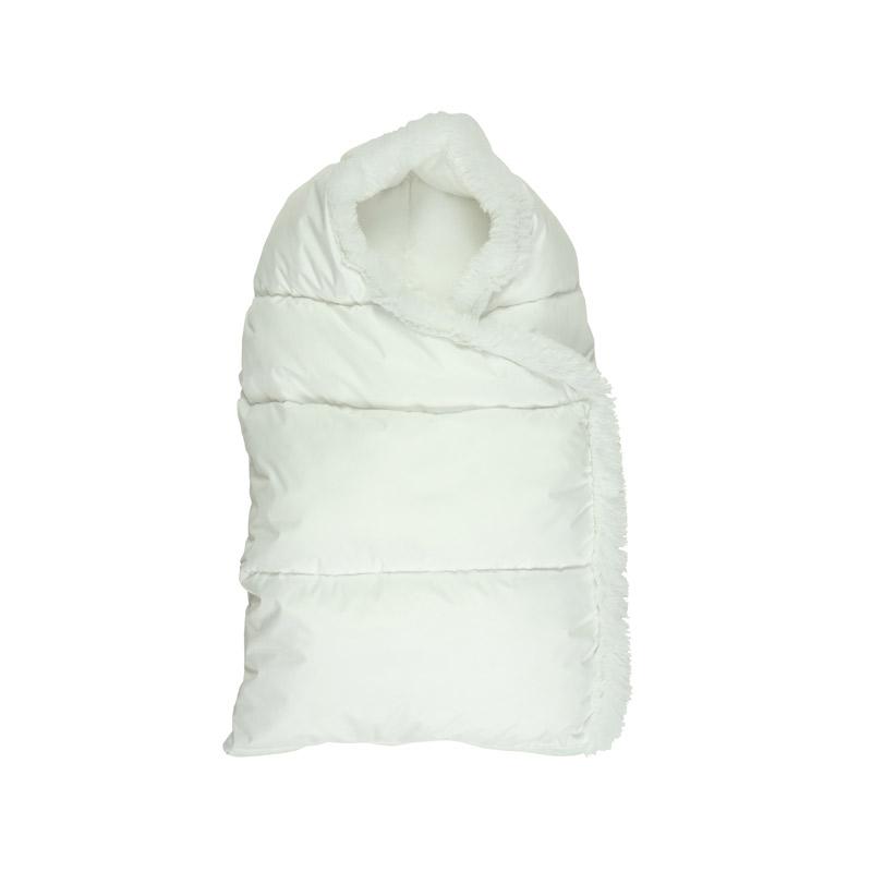 """Дитяча - Білий зимовий конверт на блискавці """"Пуховичок"""" розмір M"""