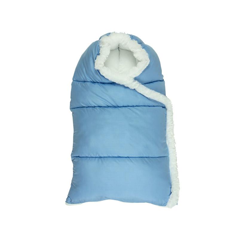 """Дитяча - Блакитний зимовий конверт на блискавці """"Пуховичок"""" розмір M"""