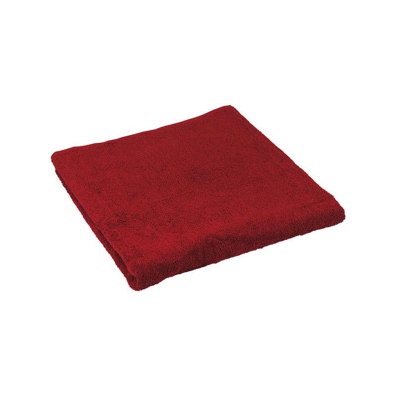 Ванна кімната - Махровий гладкофарбований рушник бордовий 50х90 см