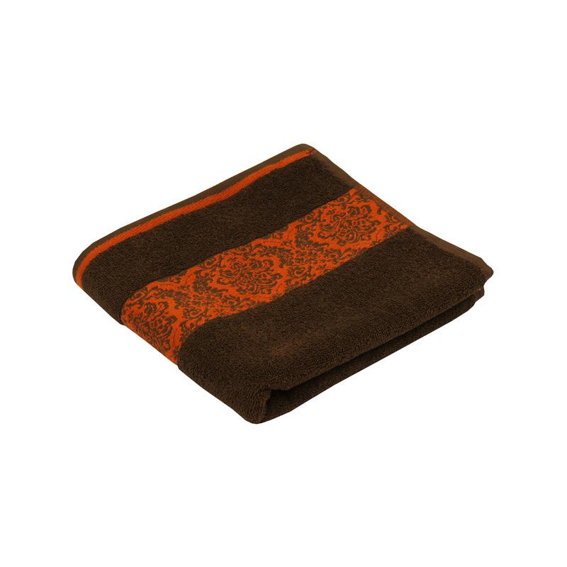 Ванна кімната - Махровий жаккардовий рушник шоколадний 50х90 см