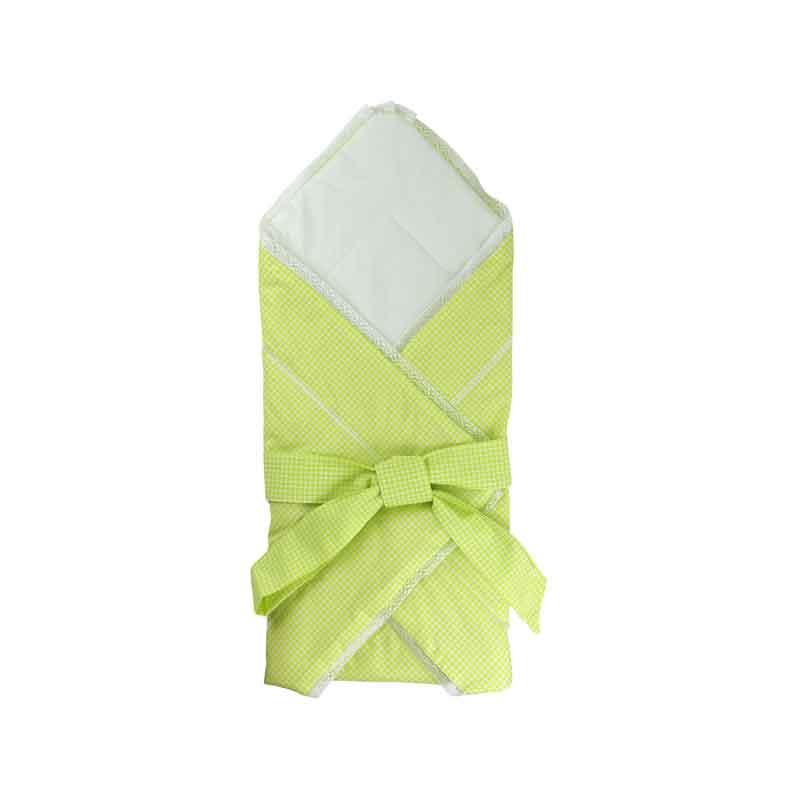 Дитяча - Бавовняна ковдра-конверт для немовлят 957ХБУ салатова