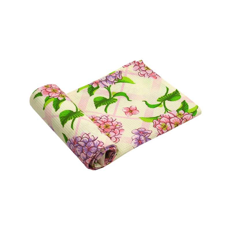 """Кухня - Вафельний набивний рушник """"Гортензія"""" 35х70 см"""