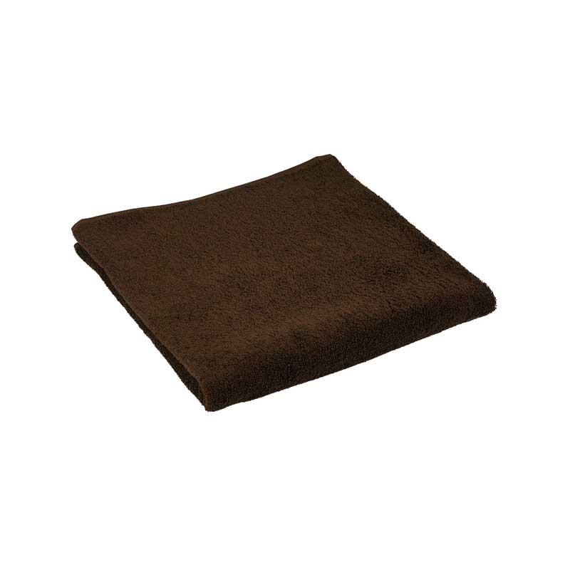 Банні рушники - Махровий гладкофарбований рушник коричневий 70х140 см