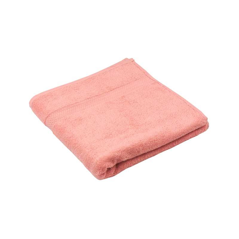 Банні рушники - Махровий гладкофарбований рушник рожевий 70х140 см