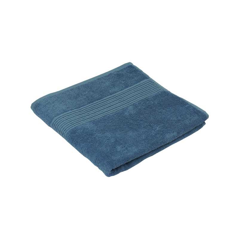 Махрові рушники - Махровий жаккардовий рушник блакитний 50х90 см