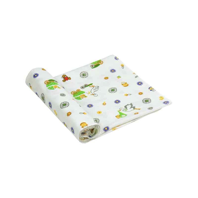 Бавовняні пелюшки - Фланелева пелюшка 10-0320 green 90х80 см