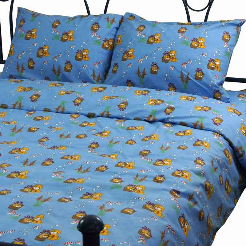 Комплекти постільної білизни - Комплект постільної білизни 10-0117 Blue полуторний