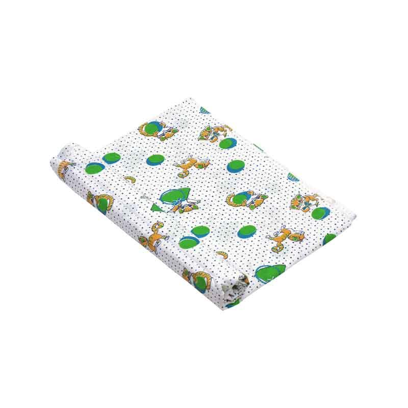 """Бавовняні пелюшки - Ситцева пелюшка """"Кошеня салатове"""" 80х95 см"""